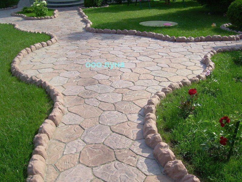 Каменный цветок плитка тротуарная